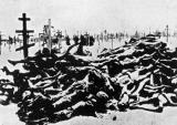 Gladomor, cesta slika na grobljima